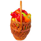Basket with paprika. Royalty Free Stock Photography