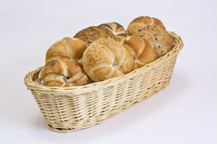 Basket with pastry Stock Photos
