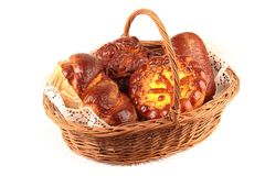 Basket with pastry Royalty Free Stock Photography