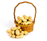 Basket of peanuts Stock Photo