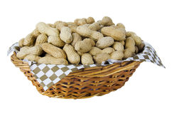 Basket of peanuts Stock Photography
