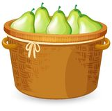 A basket of pear royalty free illustration