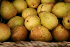 Basket Of Pears Stock Images