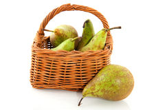 Basket pears Stock Images