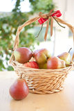 A basket with pears Royalty Free Stock Photography