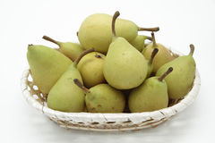 Basket of pears Stock Photos
