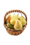 Basket of pears Royalty Free Stock Images