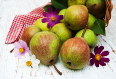 Basket with pears Stock Photography
