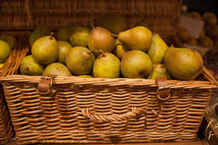 Basket of pears Stock Photo