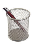 Basket with pen Stock Photo