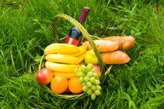 Basket picnic Stock Image