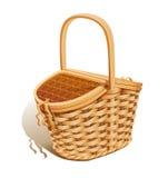 Basket for picnic vector illustration