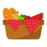 Basket picnic icon. Isolated basket picnic icon. Vector illustration design Stock Image