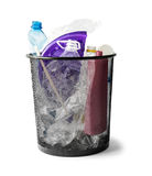 Basket with plastic waste Stock Photo