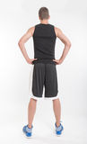 Basket player, back view Royalty Free Stock Photo