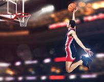 Basket player at the stadium Stock Images