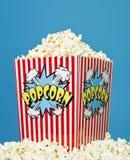 Basket of Popcorn Stock Photo