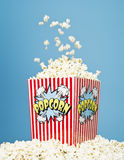Basket of Popcorn Stock Image