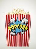 Basket of Popcorn isolated Stock Photography