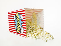 Basket of Popcorn isolated Royalty Free Stock Image