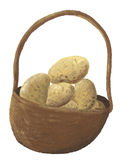 A basket of potato Stock Images