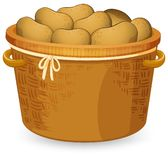 A basket of potato vector illustration