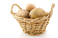 Basket with potatoes Royalty Free Stock Photo