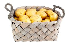 Basket of potatoes Royalty Free Stock Photos
