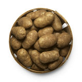 Basket of potatoes Stock Images