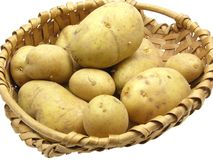 A basket with potatoes Stock Photo