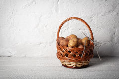 Basket with potatoes Stock Photo