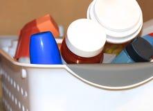 Basket of Prescription Medicines Stock Photography