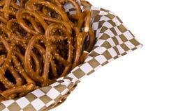 Basket of pretzels Stock Photo