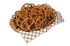 Basket of pretzels Royalty Free Stock Images