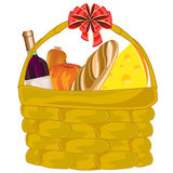 Basket with product Royalty Free Stock Image