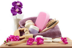 Basket of products for cellulite Royalty Free Stock Photos
