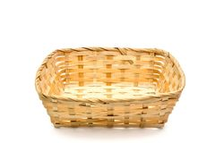 Put the basket. Basket put the object and white background.  clipping path Royalty Free Stock Image