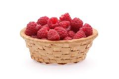 Basket of raspberries Stock Photography