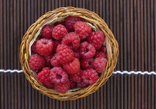 Basket with raspberry Stock Photography