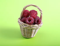 Basket with a raspberry Royalty Free Stock Photo