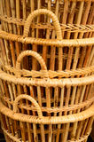 Basket rattan is Thai handmade Royalty Free Stock Image
