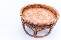 Basket from rattan on white background. For put food or vegetable Royalty Free Stock Photography
