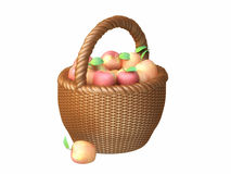 Basket With Red Apples Stock Image