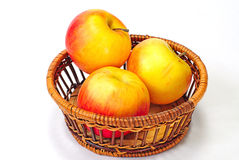 Basket of Red  apples Stock Photos