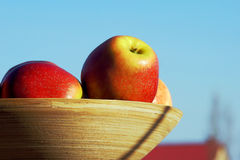 Basket with red apples Royalty Free Stock Images