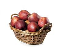 Basket of red apples Stock Photo