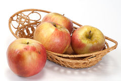 Basket of Red apples Royalty Free Stock Images