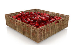 Basket with red apples. For processing trade scenes Stock Photo