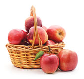 Basket with red apples. Stock Photos