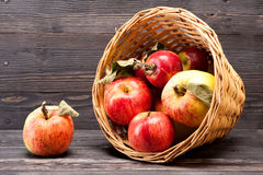 Basket with red apples Royalty Free Stock Image